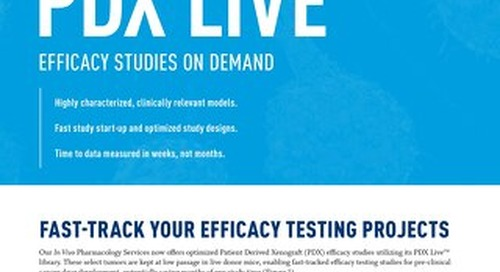 PDX Live: Accelerated Preclinical Efficacy Testing of Cancer Therapies