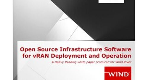 Open Source Infrastructure Software for vRAN Deployment and Operation