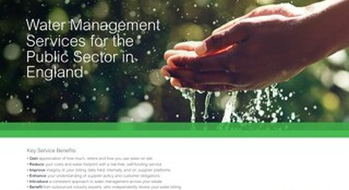 Water Management Services for the Public Sector (England)