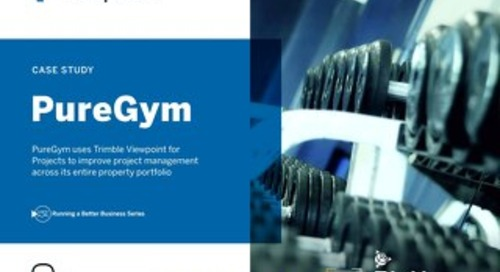 PureGym Improves Project Management with Viewpoint for Projects