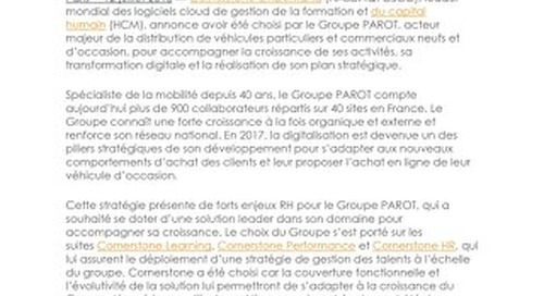 Case Study Groupe Parot