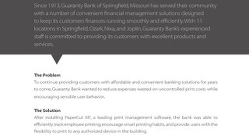 Finance Case Study Guaranty Bank