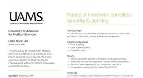 Healthcare Case Study UAMS