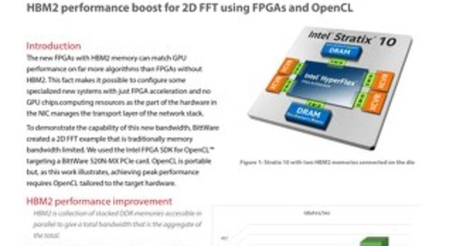 HBM2 performance boost for 2D FFT using FPGAs and OpenCL