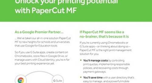PaperCut Google Education Overview