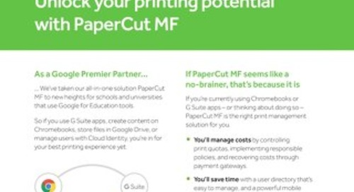 PaperCut Google Education Overview