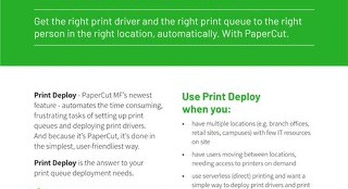 PaperCut Print Deploy Overview