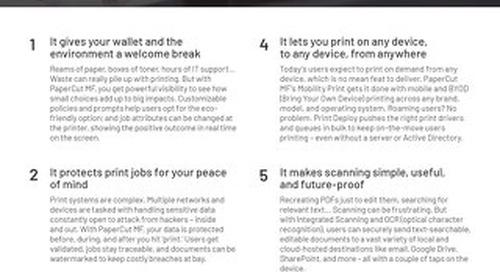 PaperCut Top 10 Customer Guide
