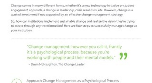 Tip Sheet: 4 Steps for Effective Change Management