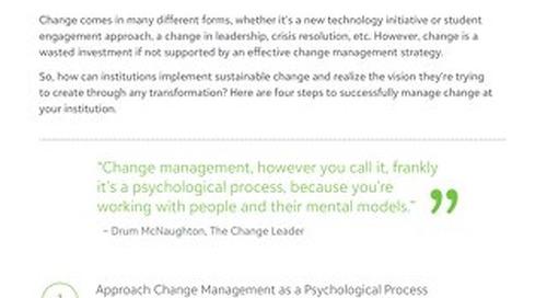 Tip Sheet: 4 Steps for Effective Change Management