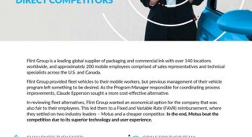 Flint Group Chooses Motus for Best-in-Class Technology Over Direct Competitors