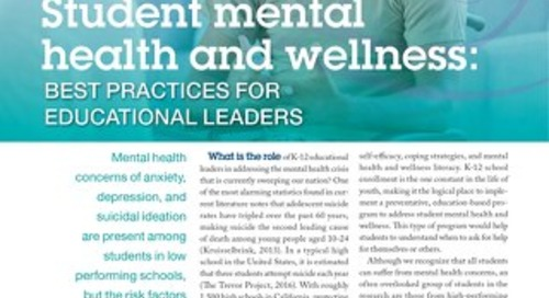 Student mental health and wellness SEPT-OCT 2018