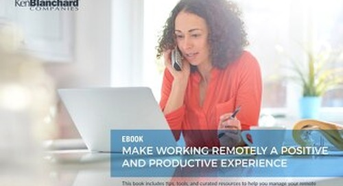 Make Working Remotely a Positive Productive Experience