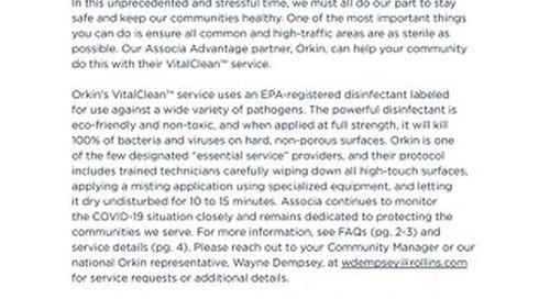 Orkin VitalClean™ Service