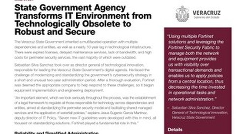 State Government Agency Transforms IT Environment from Technologically Obsolete to Robust and Secure