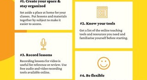 Tips for Teachers Working From Home [Infographic]