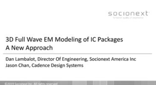 3D Full Wave EM Modeling of IC Packages