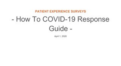 RL6: How to create COVID-19 PX Surveys
