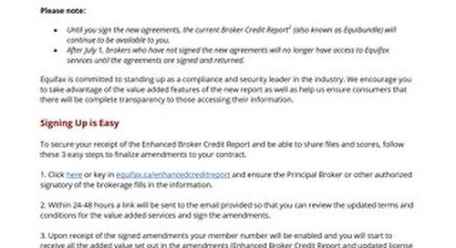 Broker Announcement