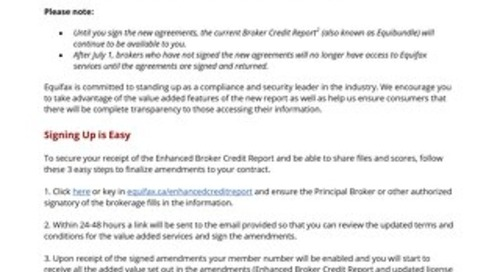 Broker Announcement