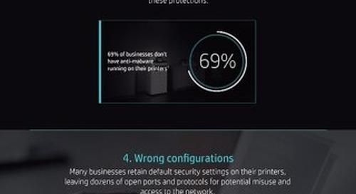 HP Print Infographic - Top 5 Security Vulnerabilities