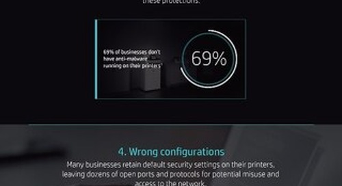 HP Print Infographic - Top 5 Security Vulnerabilities