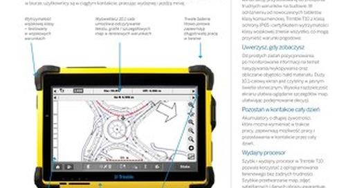 Trimble T10 Tablet Datasheet - Polish