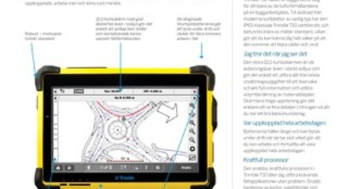 Trimble T10 Tablet Datasheet - Swedish