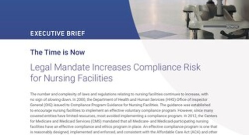 Legal Mandate Increases Compliance Risk for Nursing Facilities