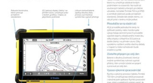 Trimble T10 Tablet Datasheet - Czech