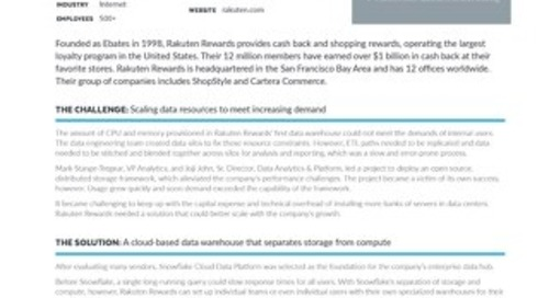 Rakuten Rewards: A Scalable Data Warehouse with Secure Data Sharing