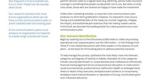 Building the B2B Crisis Communications Plan