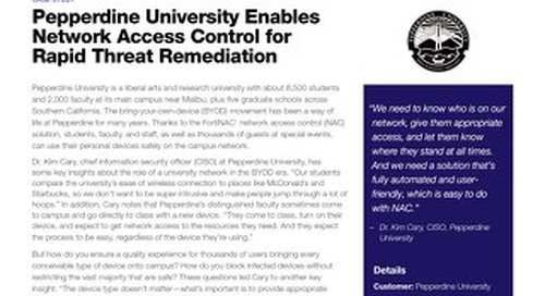 Pepperdine University Enables Network Access Control for Rapid Threat Remediation