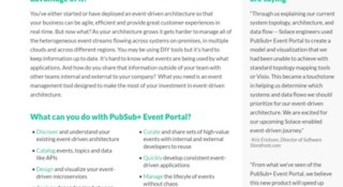 PubSub+ Event Portal Datasheet