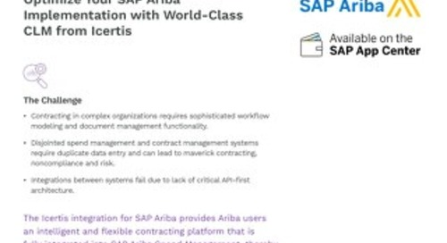 Solution Brief: Icertis Integration for SAP Ariba
