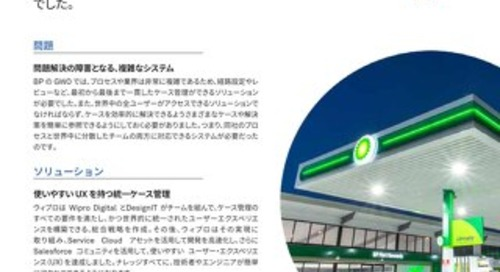 お客様事例 | BP の生産性を SALESFORCE で向上