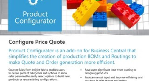Insight Works Product Configurator