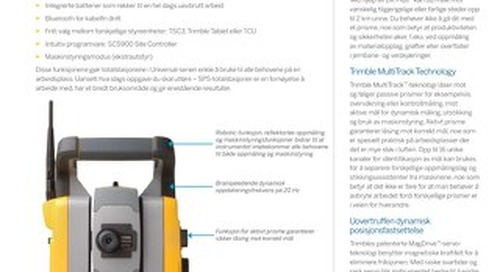 Trimble SPSX30 Datasheet - Norwegian