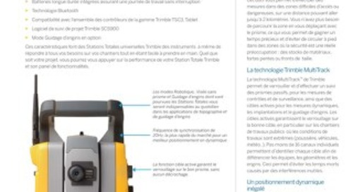 Trimble SPS730 and SPS930 Universal Total Station Datasheet - French