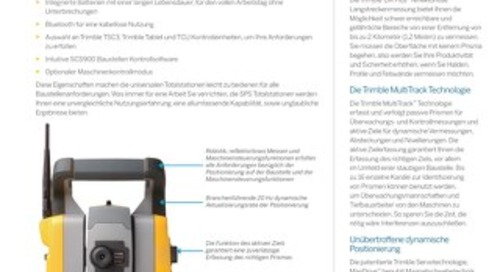 Trimble SPS730 and SPS930 Universal Total Station Datasheet - German