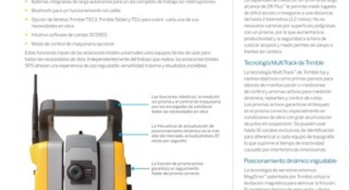 Trimble SPSX30 Universal Total Station Datasheet - Spanish