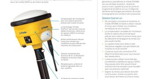 Trimble SPS986 GNSS Smart Antenna Datasheet - French