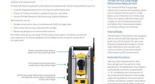 Trimble SPS620 and SPS720 Robotic Total Station Datasheet - English