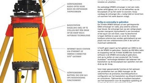 Trimble SPS855 Datasheet - Dutch