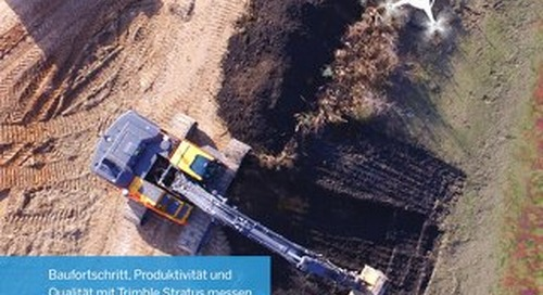 Trimble Stratus - Drone Data Analytics for Construction Brochure - German