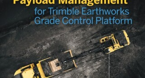 Trimble LOADRITE Payload Management for Trimble Earthworks Grade Control Platform Datasheet - English