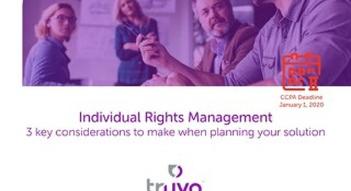 Individual Rights Management: 3 key considerations to make when planning your solution
