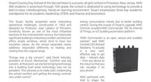 KMC Commander IoT Platform Case Study: Stuart Country Day School
