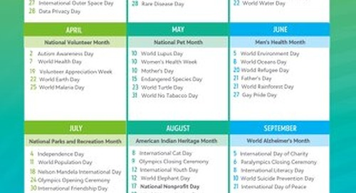 USA Giving Day Calendar