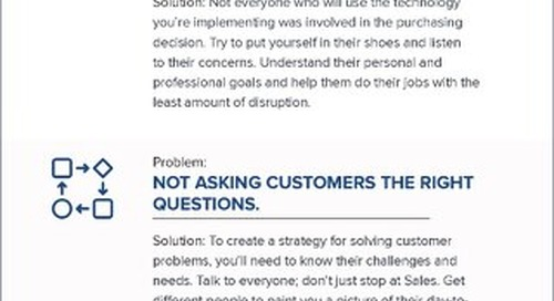 Solving CRM Implementation Infographic